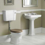 Badausstattung Richmond - WC-Set & Keramik-Waschbecken groß 2-Loch