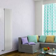 Design Heizkörper Vertikal Einlagig Weiß 1600mm x 420mm 879W - Delta