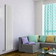 Design Heizkörper Vertikal Doppellagig Weiß 1600mm x 350mm 1102W - Delta