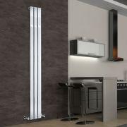 Design Heizkörper Vertikal Einlagig Chrom 1800mm x 225mm 334W - Delta