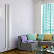 Design Heizkörper Vertikal Doppellagig Weiß 1780mm x 350mm 1237W - Delta