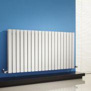Design Heizkörper Horizontal Doppellagig Weiß 635mm x 1180mm 1867W - Sloane