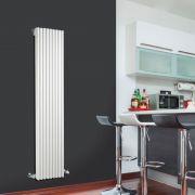Design Heizkörper Vertikal Einlagig Weiß 1600mm x 342mm 1053W - Fin
