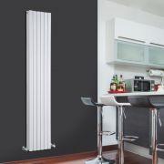 Design Heizkörper Vertikal Doppellagig Weiß 1780mm x 354mm 1448W - Sloane