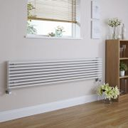 Design Heizkörper Horizontal Einlagig Weiß 342mm x 1780mm 1227W - Fin
