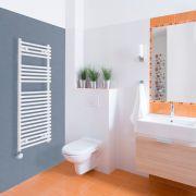 Elektrischer Handtuchheizkörper Weiß 1150mm x 450mm inkl. ein 600W Heizelement - Etna