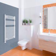Elektrischer Handtuchheizkörper Weiß 1150mm x 600mm inkl. ein 600W Heizelement - Etna