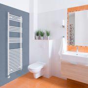 Elektrischer Handtuchheizkörper Weiß 1650mm x 450mm inkl. ein 600W Heizelement - Etna