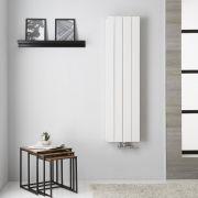 Design Heizkörper Aluminium Doppellagig Vertikal Weiß 1400mm x 375mm - Kett