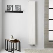 Design Heizkörper Aluminium Doppellagig Vertikal Weiß 1800mm x 280mm - Kett