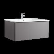 Hudson Reed Newington - 1000mm Moderner Badschrank mit Becken - Mattgrau