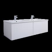 Hudson Reed Newington - 1200mm Moderner Badschrank mit Doppelbecken - Mattweiß