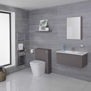 Hudson Reed Newington 800mm Vanity Unit mit Becken, Toilette und Wandpanel - Mattgrau