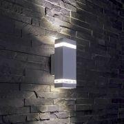 Biard Wandleuchte Zweiseitig IP54, Rechteck, in Silber - Architect