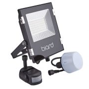 Biard 30W LED Fluter Slimline mit wahlweise Infrarot Bewegungsmelder oder Dämmerungssensor - Schwarz