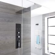 Unterputz Duschpaneel in dunklem Grau mit 3 Funktionen & Halteduschkopf 900mm