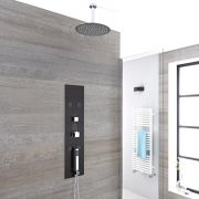 Unterputz Duschpaneel mit 3 Funktionen & rundem 300mm Duschkopf zur Wandmontage - Llis