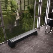 Design Konvektor Horizontal Anthrazit 200mm x 1400mm 1146W - Adva