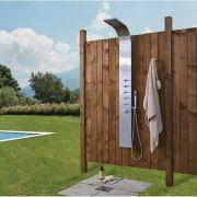 Thermostatisches Duschpaneel für den Außenbereich mit Wasserfallkopf