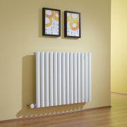 Design Heizkörper Elektrisch Horizontal Einlagig Weiß 635mm x 834mm inkl. ein 1000W Heizelement - Revive