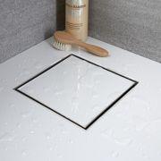 Duschrinne für Fliesen Edelstahl eckig 200mm