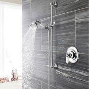Nostalgisches Duschsystem inkl Handbrause mit Stange & Unterputzduscharmatur - Beaumont