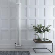 Gliederheizkörper Vertikal 2 Säulen Nostalgie Weiß 1800mm x 203mm 622W - Regent
