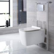 Hänge WC Quadratisch inkl. Unterputzspülkasten 1150mm x 500mm und wählbarer Betätigungsplatte - Sandford