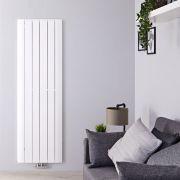 Design Heizkörper Vertikal Einlagig Mittelanschluss - Aluminium Weiß 1800mm x 565mm 2303W - Aurora