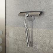 Duschwandwischer Chrom mit Hakenbefestigung für Duschpaneel