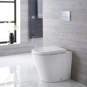 Stand-WC Oval Sitz mit Absenkautomatik - Alswear