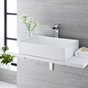 Aufsatzwaschbecken Rechteckig 610mm x 400mm - Haldon