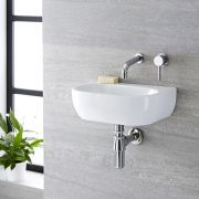 Wandhängendes Becken aus Keramik 420 x 280mm - Langtree