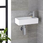 Wandhängendes Becken aus Keramik 400 x 220mm - Halwell