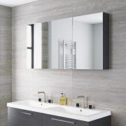 Badezimmer Spiegelschrank Dreiteilig Grau