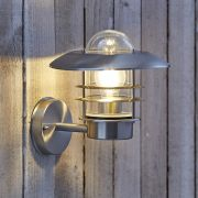 Biard Belfort Außenwandleuchte Edelstahl Chrom inklusive Leuchtmittel