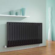 Design Heizkörper Elektrisch Horizontal Einlagig Schwarz 635mm x 1190mm inkl. ein 1000W Heizelement - Delta
