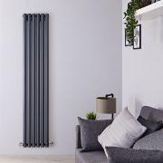 Design Heizkörper Vertikal Einlagig Anthrazit 1600mm x 354mm 958W - Savy