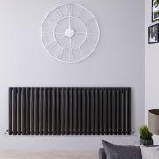 Design Heizkörper Horizontal Einlagig Schwarz 635mm x 1647mm 1671W - Revive