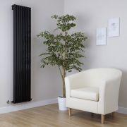 Design Heizkörper Vertikal Einlagig Schwarz 1600mm x 342mm 1053W - Fin