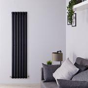 Design Heizkörper Vertikal Einlagig Schwarz 1600mm x 420mm 946W - Vital