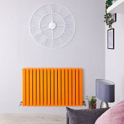 Design Heizkörper Horizontal Orange 1587 Watt 635mm x 1000mm Doppellagig - Sloane