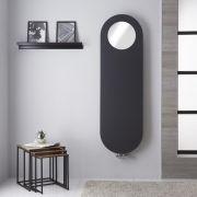 Design Heizkörper Vertikal Anthrazit 1595 x 490mm mit Spiegel - Atrani