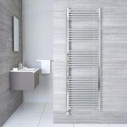 Elektrischer Handtuchheizkörper Chrom 1800mm x 600mm inkl. ein 800W Heizelement - Etna