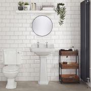 Toilette Traditionell mit Spülkasten aus Keramik - Belvoir
