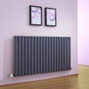 Design Heizkörper Elektrisch Horizontal Einlagig Anthrazit 635mm x 1180mm inkl. 2x 600W Heizelemente - Revive