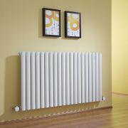 Design Heizkörper Elektrisch Horizontal Einlagig Weiß 635mm x 1180mm inkl. 2x 800W Heizelemente - Revive