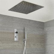 Digitale Dusche für zwei Funktionen, inkl. quadratischem 500mm Unterputzduschkopf & Brause - Narus