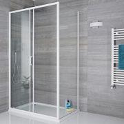 Duschabtrennung Seitenpaneel 760mm Weiß - Lux