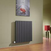 Design Heizkörper Elektrisch Horizontal Einlagig Anthrazit 635mm x 600mm inkl. ein 800W Heizelement - Sloane